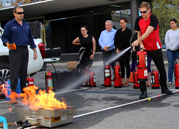 live fire training at AISWA