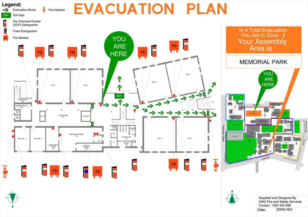 Evacuation Diagrams Cmg Fire And Safety Services